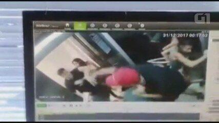 Vídeo flagra briga dentro de elevador em Praia Grande, SP