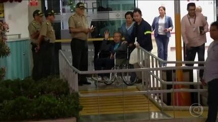 Fujimori deixa hospital e já vive como homem livre no Peru, depois de 12 anos preso