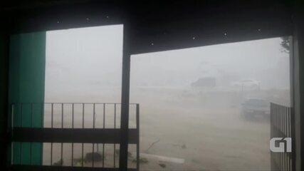 Ventos de 60 km/h assustaram moradores de Toritama, no Agreste de Pernambuco