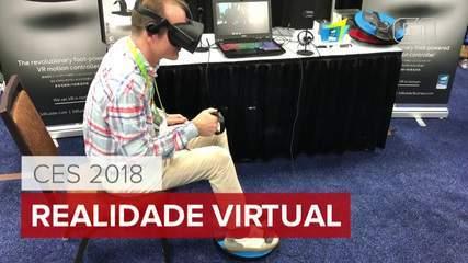 CES 2018: Empresa cria controle de realidade virtual para os pés