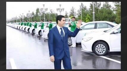 Governo do Turcomenistão proíbe carros de cor preta na capital
