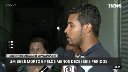Pai de bebê morto em calçadão de Copacabana faz desabafo em frente à 12ª DP