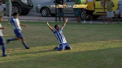 Didira faz o primeiro gol do Azulão contra o Santa Rita
