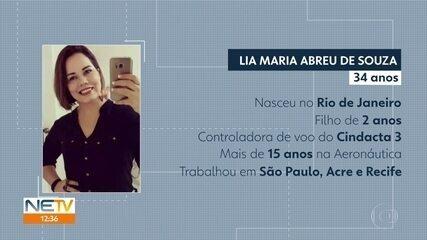 Lia Maria Abreu de Souza morreu no acidente envolvendo o Globocop, no Recife