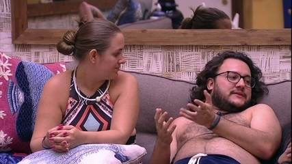Diego, Ana Paula e Patrícia especulam sobre possível Prova do Anjo