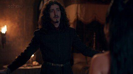 Teaser de 'Deus Salve o Rei' 03/02: Lucrécia aparece nua no quarto de Rodolfo