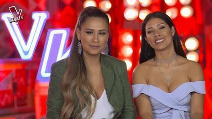 Simone e Simaria comenta seu time após quarto dia de Audições às Cegas do The Voice Kids