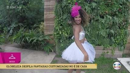Globeleza Erika Moura desfila modelitos de Carnaval criados por Karen Brusttolin