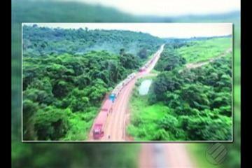 Rodovia BR-163 segue parcialmente interditada no sudoeste do Pará