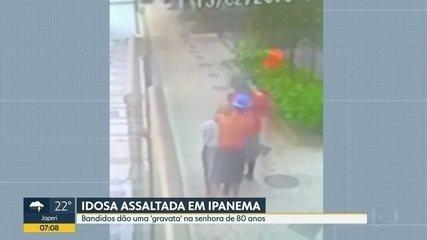 Idosa de 80 anos é atacada por bandidos em Ipanema