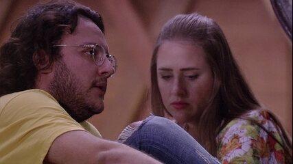 Diego consola Lucas e diz que é normal duvidar