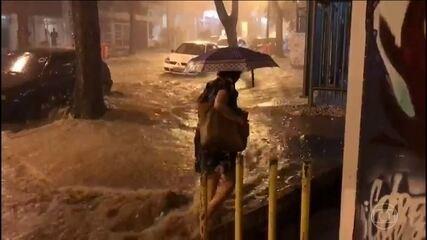 Temporal volta a causar transtornos no Rio de Janeiro