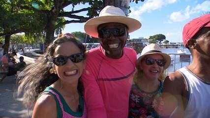 Maria Menezes conhece os vendedores pitorescos da Ribeira