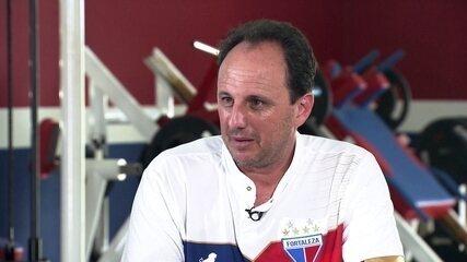 Cléber Machado entrevista Rogério Ceni, ténico do Fortaleza e ídolo do São Paulo