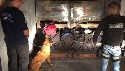 Polícia apreende mais de uma tonelada de cocaína no RJ/ Divulgação Polícia Civil