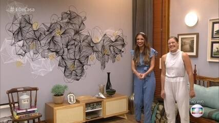 Aprenda a fazer uma linda decoração para a sua parede
