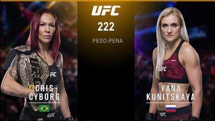 UFC 222: Cyborg x Kunitskaya - Cris Cyborg x Yana Kunitskaya