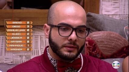 Sexto Paredão: Mahmoud vota em Wagner