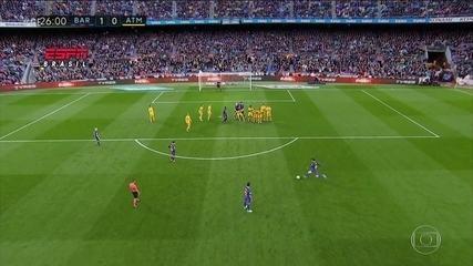 Messi faz o gol de número 600 da carreira contra o Atlético de Madri