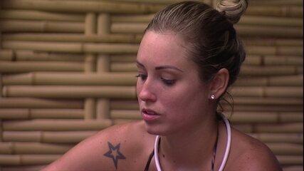 Jéssica para Patrícia e Diego: 'Eu não ser maos o foco deles me dá um alívio muito grande'