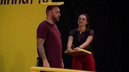 Paula diz a Caruso: 'Nunca briguei com você'