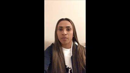Marta dá seu apoio à candidatura do Iranduba para ser sede da Libertadores feminina