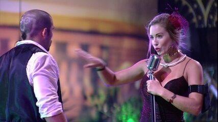 Jéssica sensualiza com Kaysar ao som de Anitta e Maluma