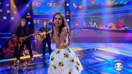 Ranna Andrade canta 'Só Você' na segunda etapa de  Shows ao Vivo do 'The Voice Kids'. Ela se classifica para a semifinal do programa