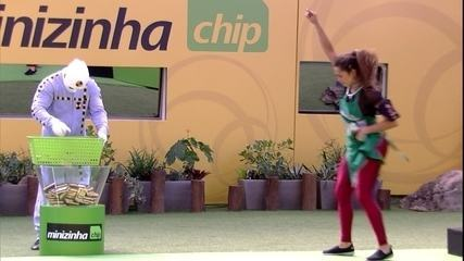 Prova da Comida Cápsula do Vento Minizinha: time verde ultrapassa pontos do time amarelo