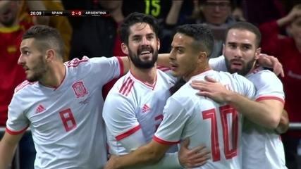 Os gols de Espanha 6 x 1 Argentina em amistoso internacional