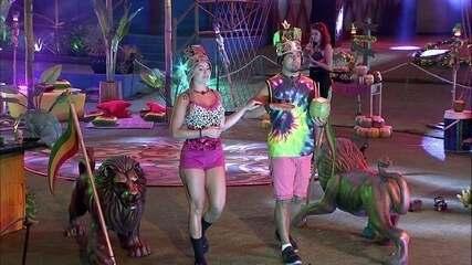 Jéssica e Kaysar fazem performance para sair da Festa Reggae