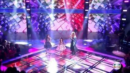 Trio Brown, composto por Mariah Yohana, Ranna Andrade e Talita Cipriano, canta 'Mais ninguém' e encanta a plateia no 'The Voice Kids'