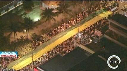 Manifestantes protestam em São José