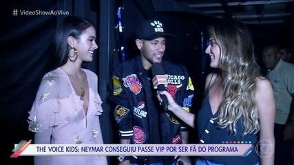 Neymar e Bruna Marquezine prestigiam a final do 'The Voice Kids'