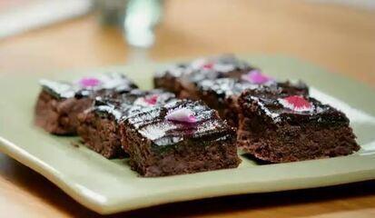 Brownie de farinha de mandioca