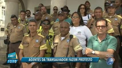 Protesto: agentes de trânsito pedem segurança no trabalho em Salvador