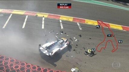 Pietro Fittipaldi bate forte em prova de automobilismo e sofre lesões nas pernas