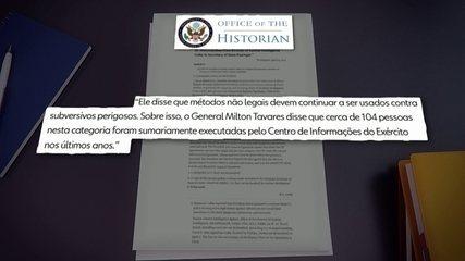 Coordenador da Comissão da Verdade classifica memorando da CIA como estarrecedor