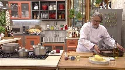 Toque do Ravioli: chef prepara receitas para a família da dona Dalva