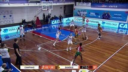 Melhores momentos: Campinas 59 x 58 Sampaio Corrêa na decisão da Liga de Basquete feminino