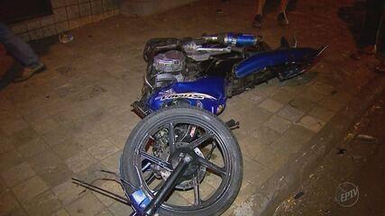 Colisão entre carro e moto deixa mototaxista ferido em Ribeirão Preto
