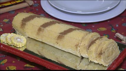 Veja como fazer receita de rocambole de milho no Chef JPB