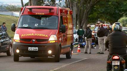 Motociclista morreu ao ser atingida por um carro que saia do estacionamento do Estádio