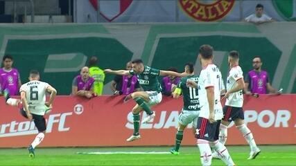 Os gols de Palmeiras 1 x 1 Flamengo pela 12ª rodada do Brasileirão 2018