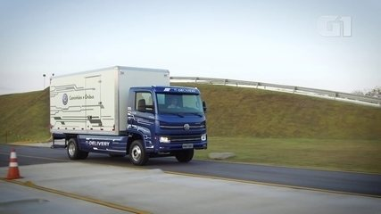 G1 testa caminhão elétrico criado no Brasil