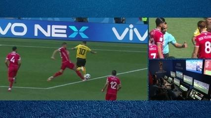 Pênalti para a Bélgica! Hazard é derrubado na área e juiz marca, aos 5` do 1º tempo