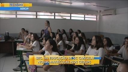 Secretária da Educação cancela novas matrículas nos Cedups; Renato Igor comenta
