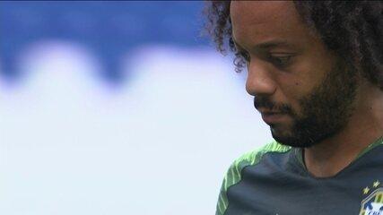 Marcelo é dúvida para partida contra o México