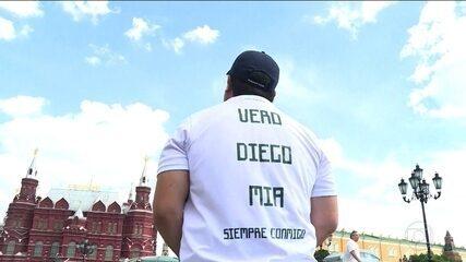 Mexicano vai à Copa em homenagem à família que morreu em acidente