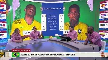 Jesus ou Firmino? Debate sobre quem deve ser o titular do ataque da Seleção Brasileira